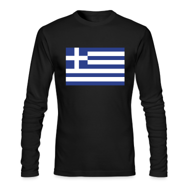 Black Greek Flag Long Sleeve Shirts
