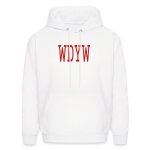 MEN`S HOODED SWEATSHIRT - WDYW by MYBLOGSHIRT.COM - Men's Hoodie
