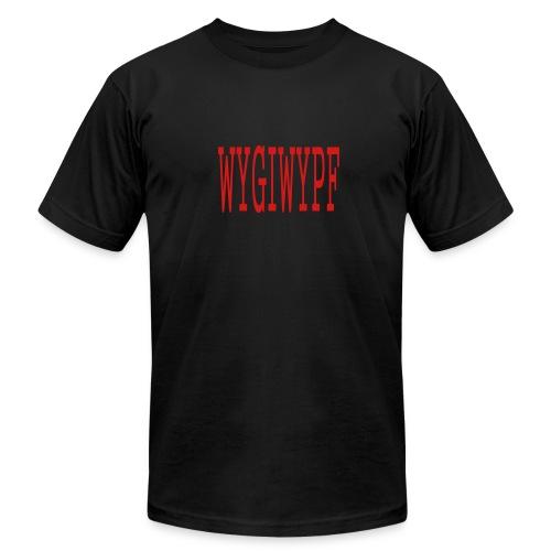 MEN`S AA T-SHIRT - WYGIWYPF - by MYBLOGSHIRT.COM - Men's Fine Jersey T-Shirt