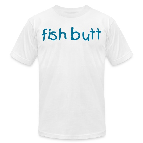 Mens Fish Butt Plain Tee - Men's Fine Jersey T-Shirt