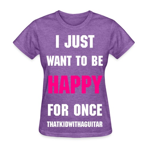 happy women's pink/white - Women's T-Shirt