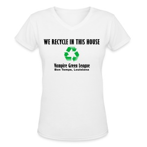 Recycle - White - Womens - Women's V-Neck T-Shirt