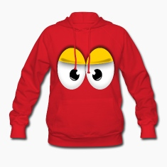 Red Cute Yellow Angry Eyes Hoodies