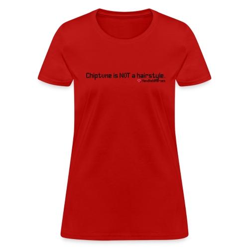 NOT a Hairstyle Black Text Women's Cap Sleeve - Women's T-Shirt