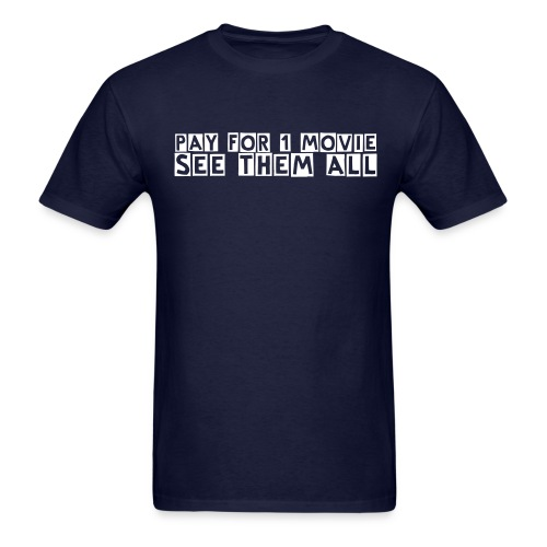 Pay For 1 Movie (navy) - Men's T-Shirt