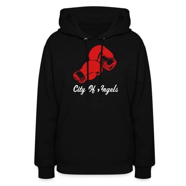 Ladies City of Angels Boxing Hooded Sweat Shirt