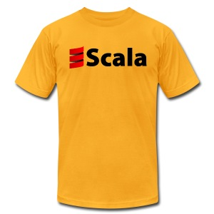 Men's Color AA Shirt with Black Scala Logo - Men's T-Shirt by American Apparel
