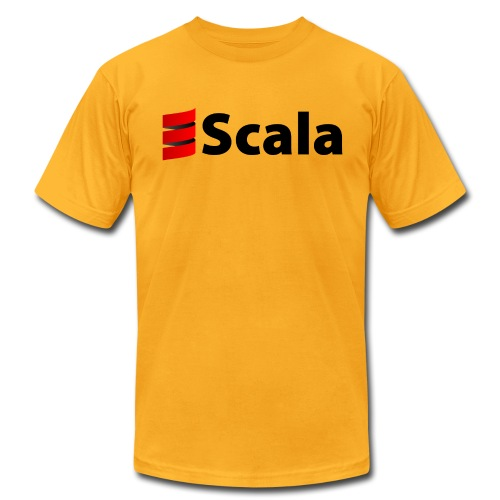Men's Color AA Shirt with Black Scala Logo - Men's Fine Jersey T-Shirt