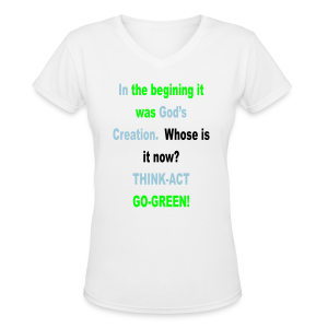In The Begining... - Women's V-Neck T-Shirt