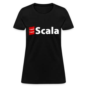 Women's Black/Color Slim Fit with White Scala Logo - Women's T-Shirt