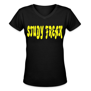 study freak - Women's V-Neck T-Shirt