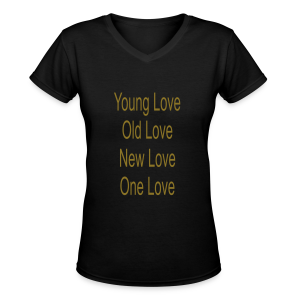 One Love - Women's V-Neck T-Shirt