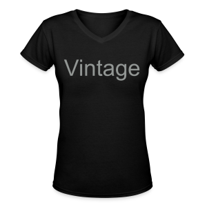 Vintage - Women's V-Neck T-Shirt
