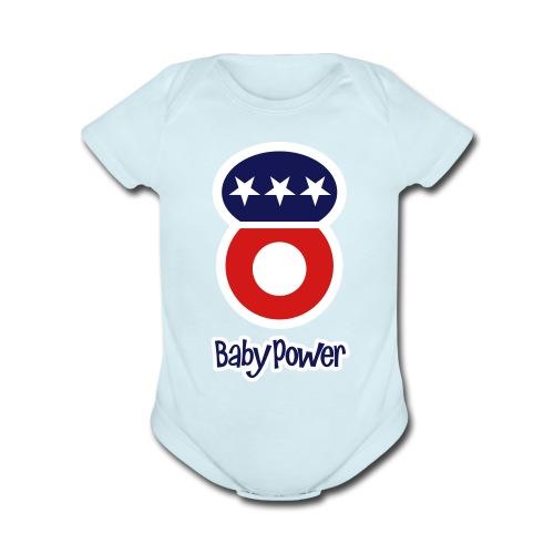 Baby Power Dolly USA - Organic Short Sleeve Baby Bodysuit