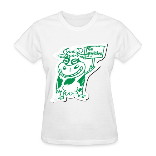 Women's Go Vegetarian T - Women's T-Shirt