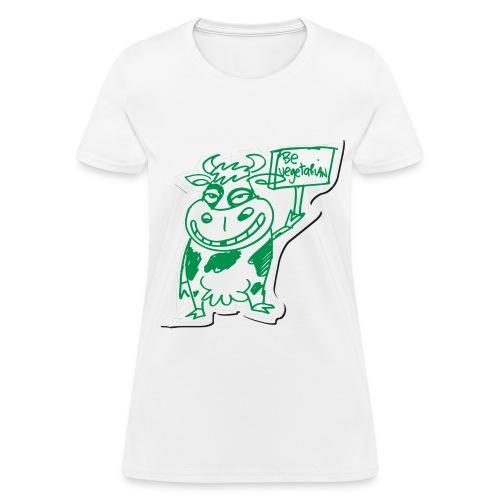 Women's Go Vegetarian T - Women's T-Shirt