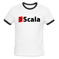 T-Shirts ~ Men's Ringer T-Shirt ~ Men's Ringer Tee with Black Scala Logo