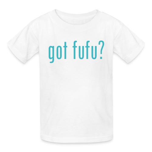 got fufu - Girls's Tee - White / Aqua - Kids' T-Shirt