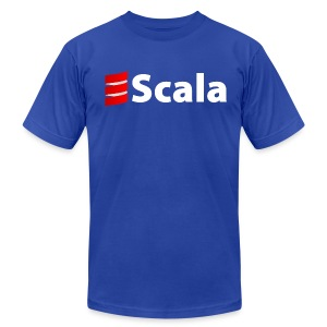 Men's Black/Color AA Shirt with White Scala Logo - Men's T-Shirt by American Apparel