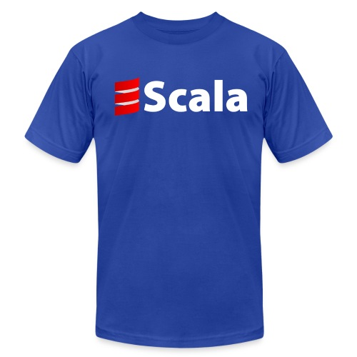 Men's Black/Color AA Shirt with White Scala Logo - Men's Fine Jersey T-Shirt