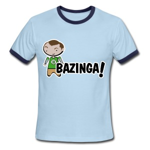 sheldon big bang theory bazinga shirt - Men's Ringer T-Shirt