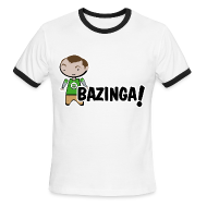 T-Shirts ~ Men's Ringer T-Shirt ~ sheldon big bang theory bazinga shirt