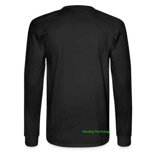 Intruding The Eulogy small on back of shirt - Men's Long Sleeve T-Shirt