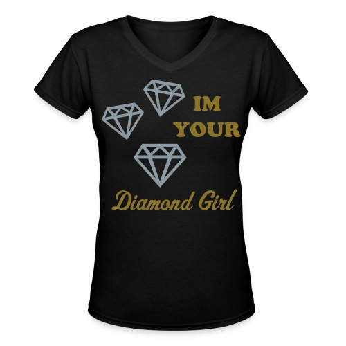 diamond girl - Women's V-Neck T-Shirt