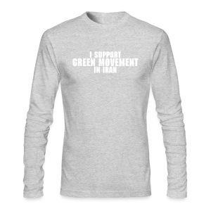 I support Green Movement in Iran - Men's Long Sleeve T-Shirt by Next Level