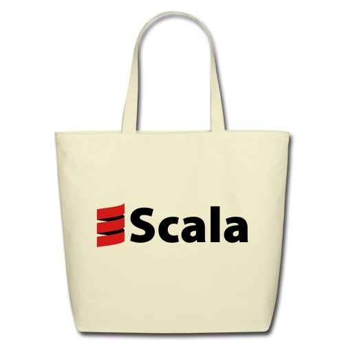 Tote Bag with Black Scala Logo - Eco-Friendly Cotton Tote