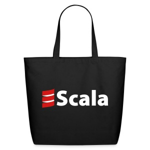 Tote Bag with White Scala Logo - Eco-Friendly Cotton Tote