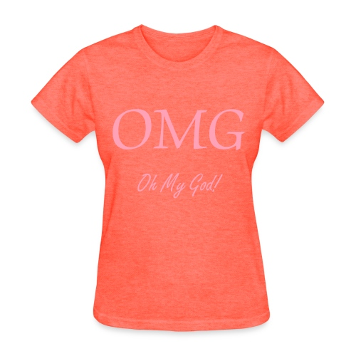 OMG Grey - pink T - Women's T-Shirt