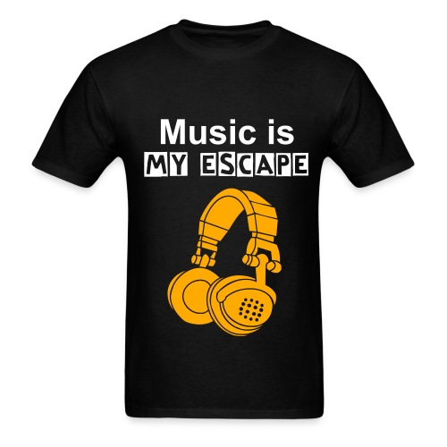 Music is my escape - Men's T-Shirt