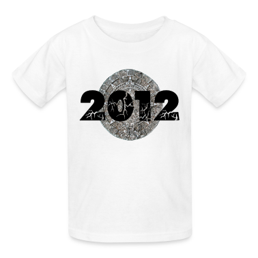 White 2012 Mayan Calendar Kids' Shirts