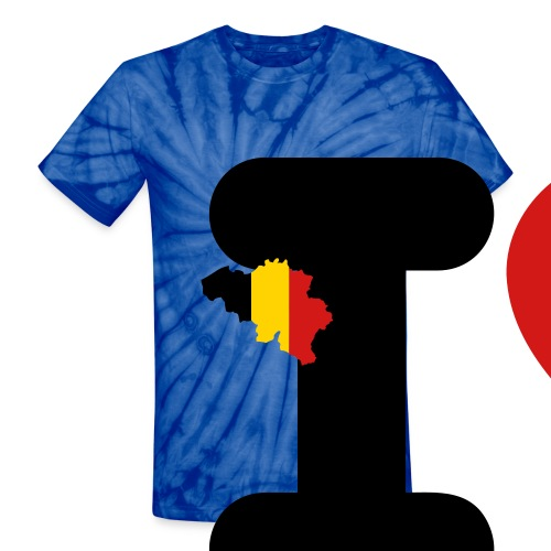 I love Belgium - Unisex Tie Dye T-Shirt