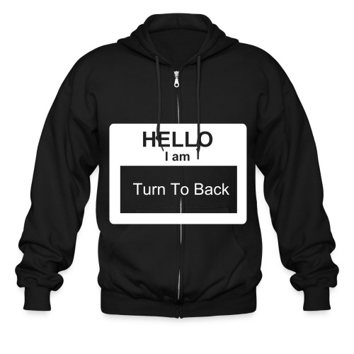 Hello I Am Turn To Back M.U.R.O.B Mind Your Own Busines - Men's Zip Hoodie