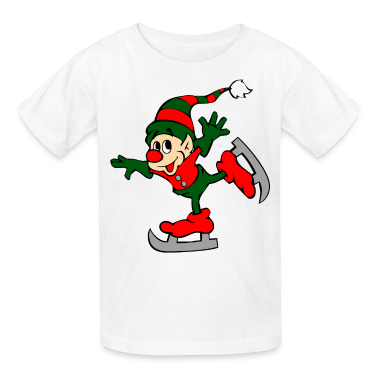 White Christmas elf Kids' Shirts
