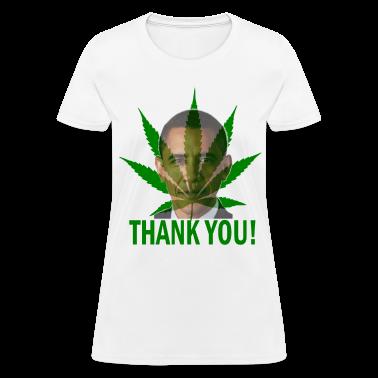White Thank You Obama Medical Marijuana Women's T-Shirts