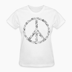 White Star Peace Sign Women's T-Shirts