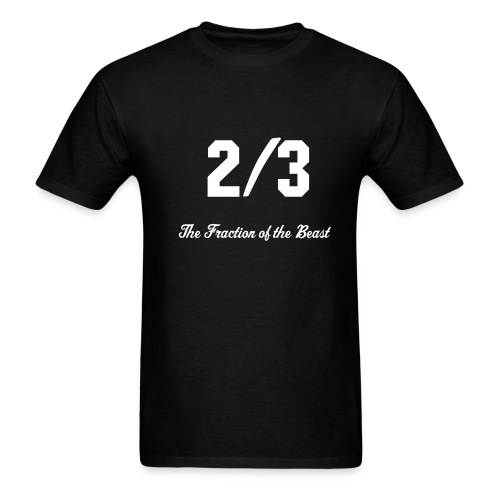 2/3: Fraction of the Beast - Men's T-Shirt