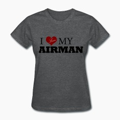 Deep heather Love my AIRMAN Women's T-Shirts