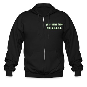 your name, GLOWING - Men's Zip Hoodie