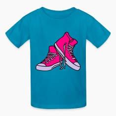 Hot pink punkshoes complete Kids' Shirts