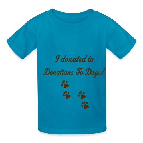 Donations To Dogs Children's Tee - Kids' T-Shirt