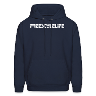 Hoodies ~ Men's Hoodie ~ Men's Hooded Sweatshirt/White Lettering