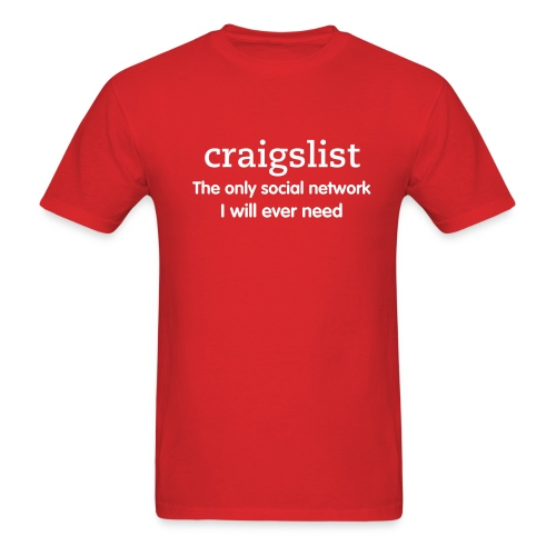 craigslist social network - Men's T-Shirt