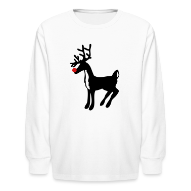 White rudolph the red nose reindeer Kids' Shirts