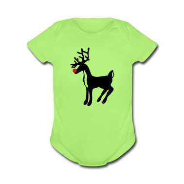 Mint green rudolph the red nose reindeer Baby Body