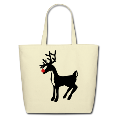 Creme rudolph the red nose reindeer Bags