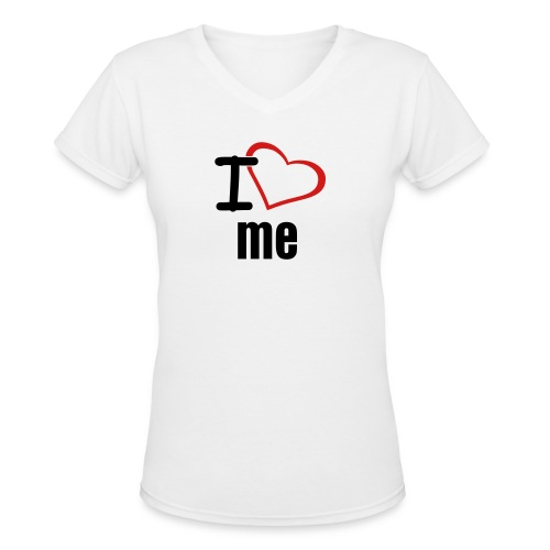 I luv me  - Women's V-Neck T-Shirt